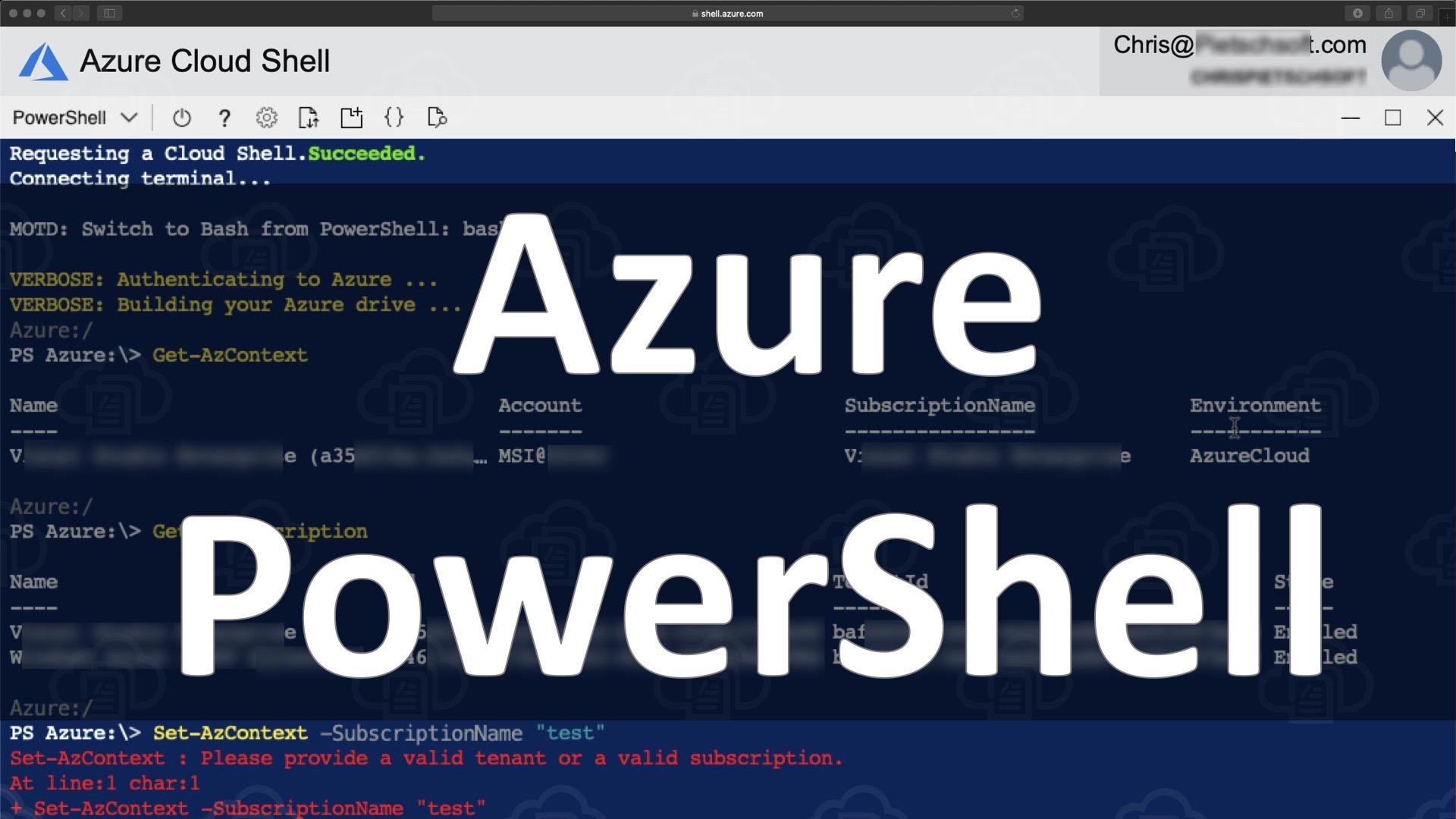 Azure PowerShell Az: List and Set Azure Subscription 6