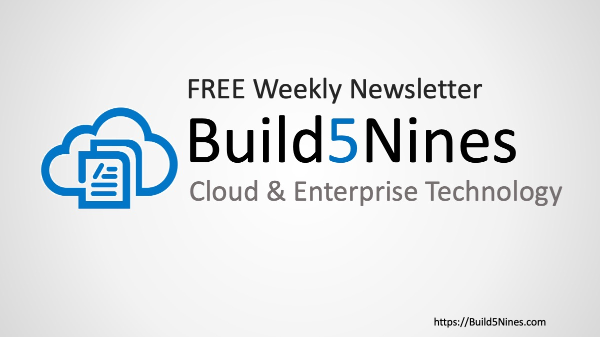 Latest Cloud News: Azure Certs, GitHub Outage, Microsoft Closing Retail, and more! (Jun 30, 2020- Build5Nines Weekly) 32
