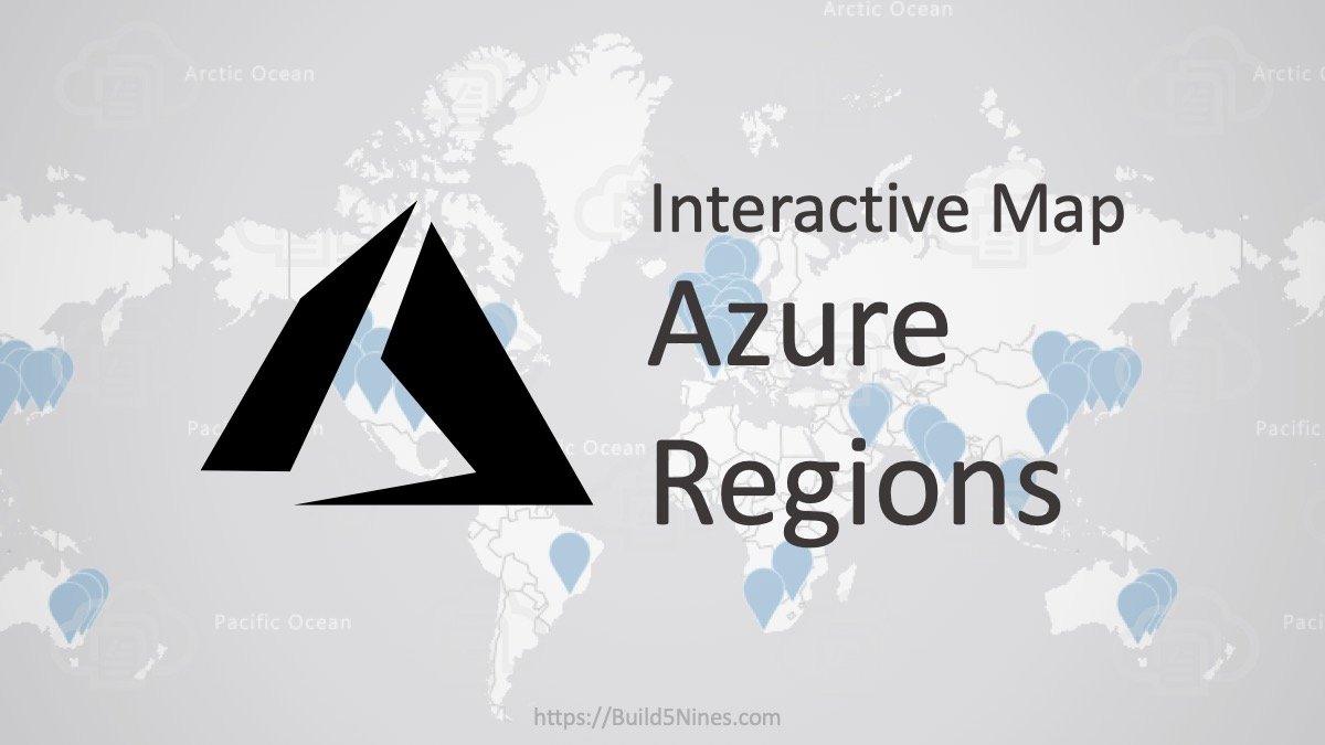 Azure Regions Interactive Map 1